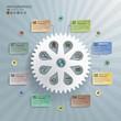 Cogwheel Abstract Modern Infographics Background