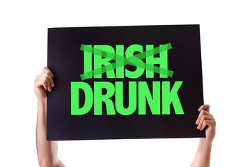Irish Drunk card isolated on white