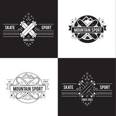 vintage label design. sport and recreation.