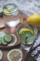 infused lemon cucumber water