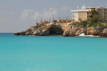 Construction of hotel on Caribbean Islands. Saint-Martin