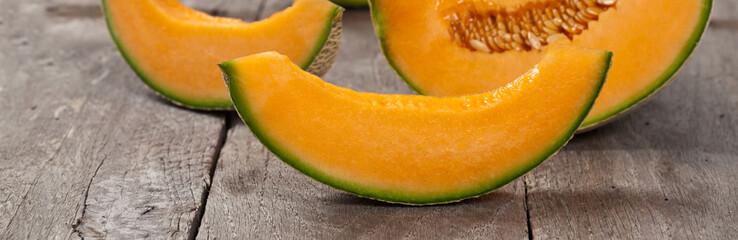 Cantaloupe Melon. Selective focus.