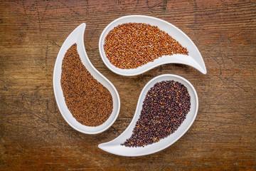 kaniwa, red and black quinoa gluten free grain