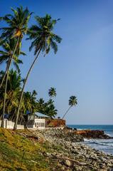 Tropical Indian village  in Varkala, Kerala, India