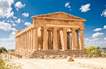 Ercole temple in the Valley of the Temples, Agrigento, Sicily