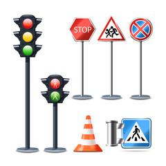 Traffic Sign And Lights Set