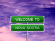 Nova Scotia Welcome Sign