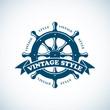 vintage nautical badge - 80028721