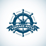 vintage nautical badge