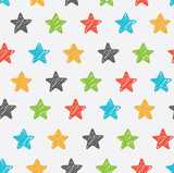 Fototapety Sketchy star seamless background