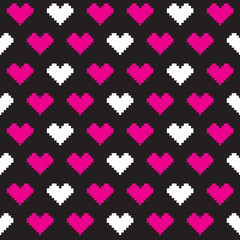 pixel love pattern