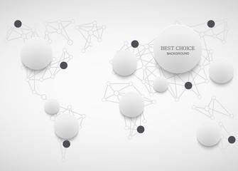 Vector modenr social network infographic