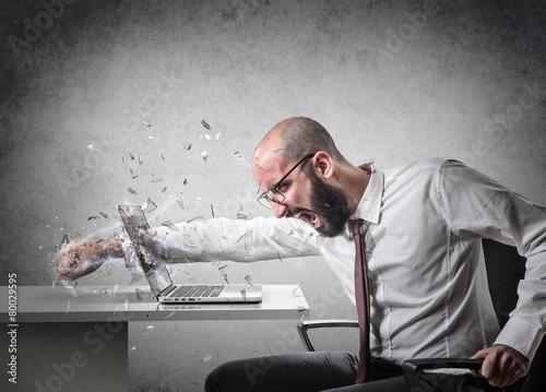 Leinwanddruck Bild explosion of anger