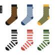 Set of socks with original hipster design - 80029735