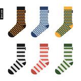Set of socks with original hipster design
