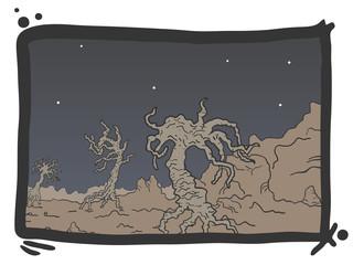 Art scene comic