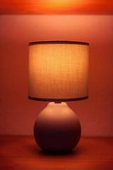 Lamp on a shelf
