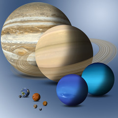 Planets Of Solar System Full Size Comparison