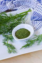 Fresh and dried dill