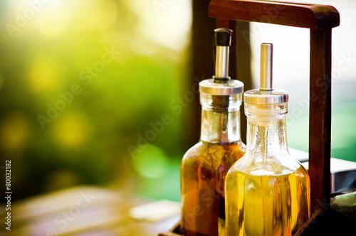 Fotobehang Kruiderij olive oil and balsamic vinegar