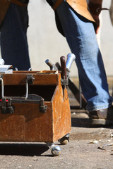 Farrier working tools in the box
