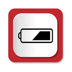 Векторный значок с изображением батареи