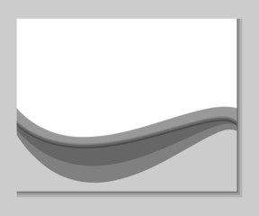 Abstract horizontally gray background with shadows and waves