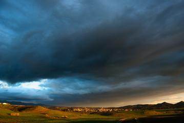Nuvole e tramonto, Sardegna meridionale