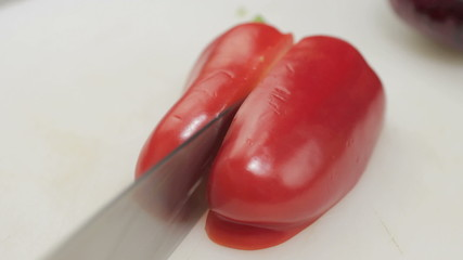 Cut Sweet Pepper In Half