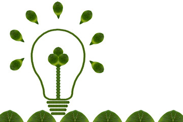 Idea light bulb from leaf.( ECO  concept)