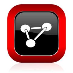 chemistry icon molecule sign