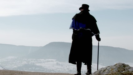 Vampire Lord standing on mountain
