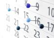 Leinwanddruck Bild - Kalender