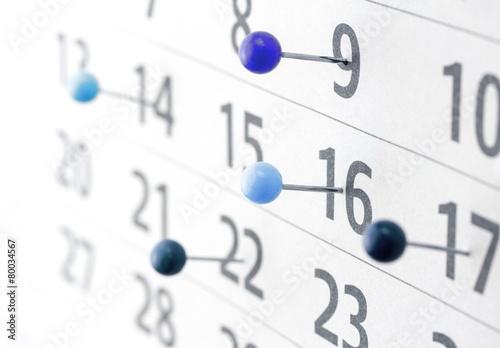 Leinwanddruck Bild Kalender