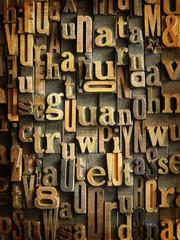 Vintage wooden typescript background
