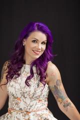 beautiful tattooed model