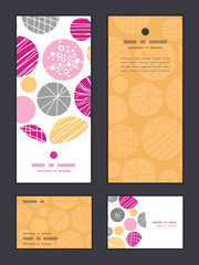 Vector abstract textured bubbles vertical frame pattern