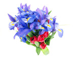 flower bouquet purple and red