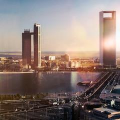 Abu Dhabi bei Sonnenuntergang