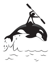 Orca and man