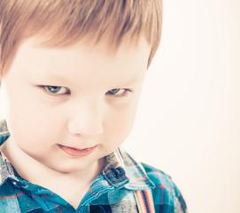 boy with tricky glance