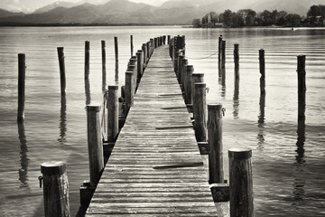 old wooden jetty
