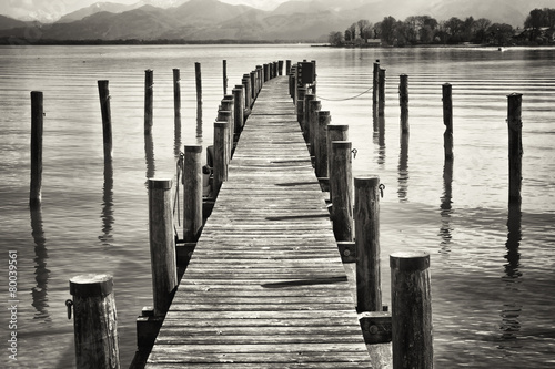 old wooden jetty - 80039561