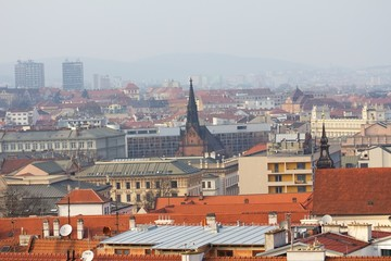 View of the city of Brno