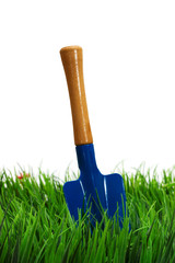 Shovel on white background. garden tool.