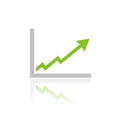 Icono gráfica éxito color FB reflejo