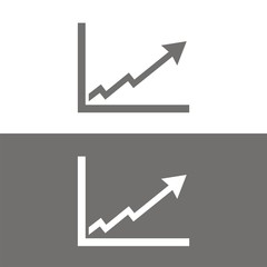 Icono gráfica éxito BN
