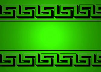 Greca, griega, fondo verde, iluminado, escribir texto