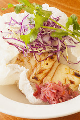 grilled Asian-style fish taco salad