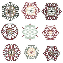 Lace  floral ethnic ornament  pattern